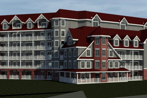 St Elizabeth Village rear exterior rendering Stay project by Reinders and Rieder