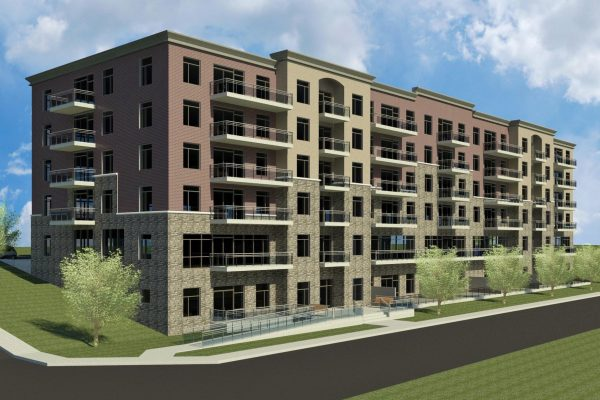 Eagle St-Linden Crossing rendering Stay project by Reinders and Rieder