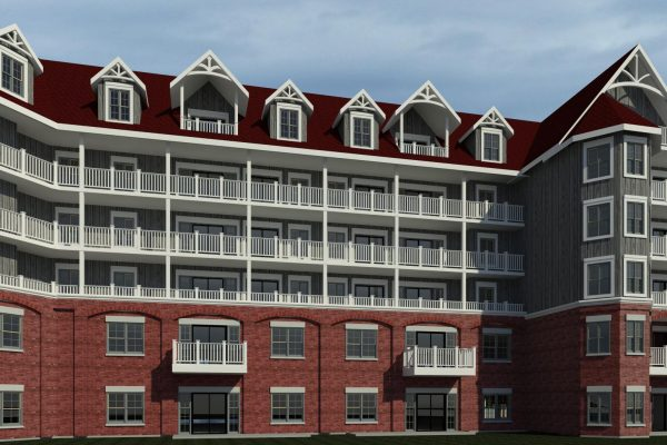 St Elizabeth Village front rendering Stay project by Reinders and Rieder
