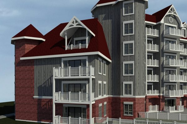 St Elizabeth Village side balcony rendering Stay project by Reinders and Rieder