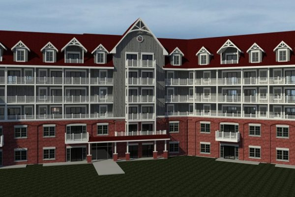 St Elizabeth Village exterior rendering Stay project by Reinders and Rieder