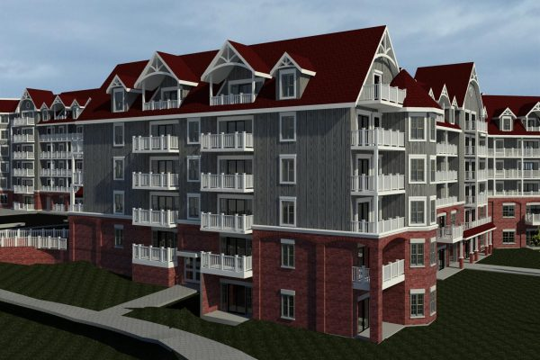 St Elizabeth Village side rendering Stay project by Reinders and Rieder