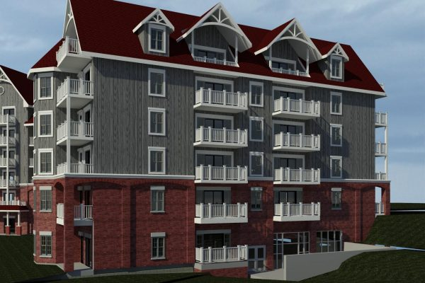 St Elizabeth Village balcony rendering Stay project by Reinders and Rieder