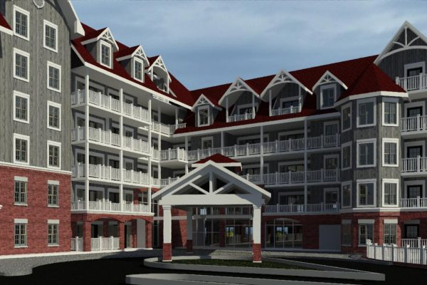 St Elizabeth Village front door rendering Stay project by Reinders and Rieder
