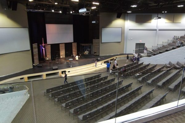 King Street Church worship hall seating Pray project by Reinders and Rieder