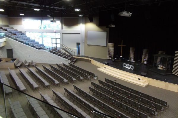 King Street Church worship hall seats Pray project by Reinders and Rieder
