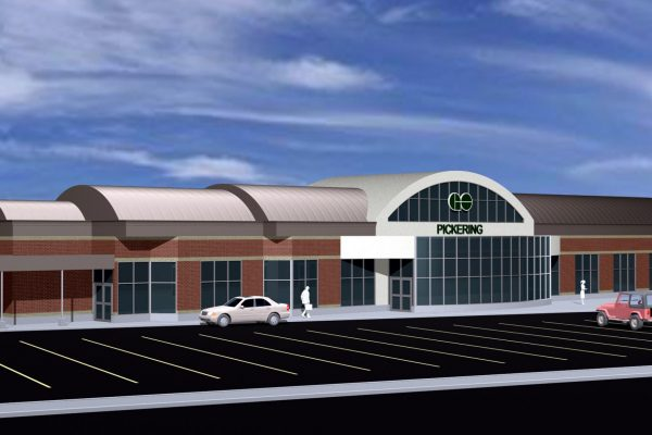 GO Pickering parking lot rendering earn project by Reinders and Rieder