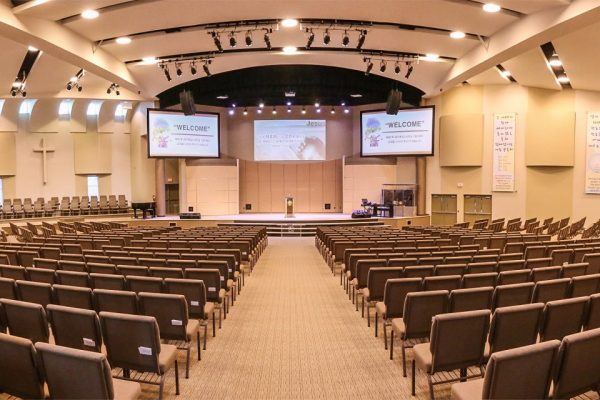 Vaughan Community Church worship hall Pray project by Reinders and Rieder