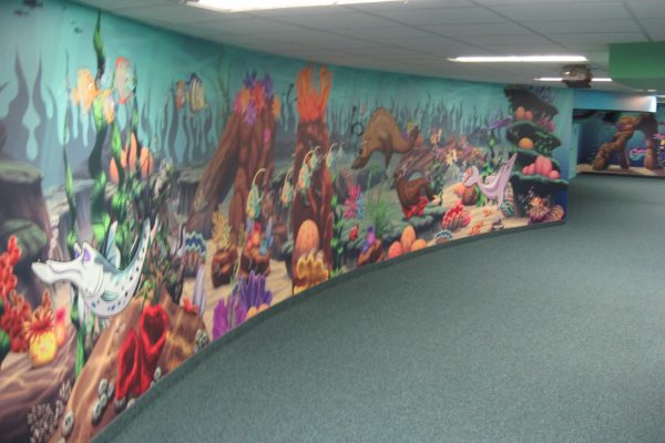 Calvary Church mural Pray project by Reinders and Rieder