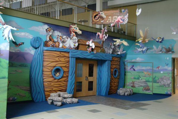 Vaughan Community Church kids area Pray project by Reinders and Rieder