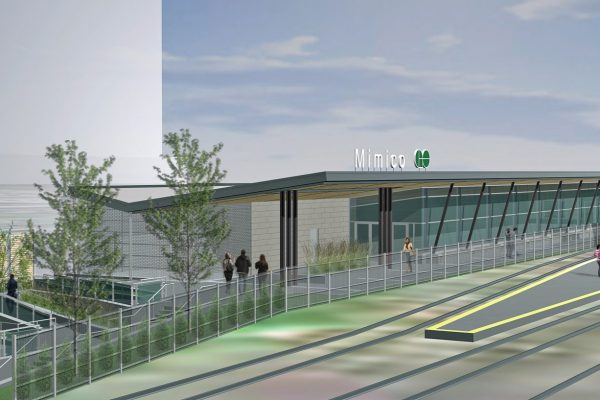 GO Mimico station rendering earn project by Reinders and Rieder