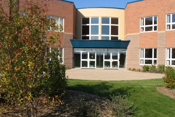 Trinity Christian School front Learn project by Reinders and Rieder