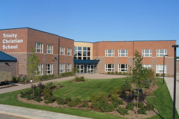 Trinity Christian School front from away Learn project by Reinders and Rieder