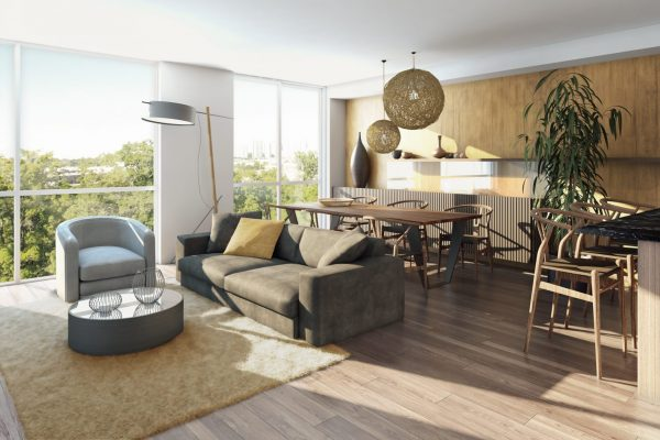 Trinity Ravine living area Stay project by Reinders and Rieder